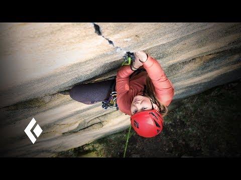 Hazel Findlay climbing in Bohuslän