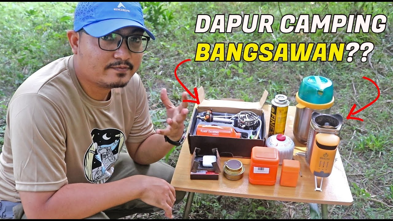 Dapur Camping Advance - BRS Booster Multi Fuel Stove & Biolite Camp Stove 2