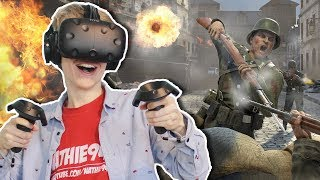CALL OF DUTY WW2 IN VIRTUAL REALITY?! | Front Defense VR (HTC Vive Gameplay)