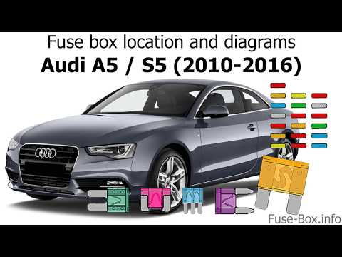 Fuse box location and diagrams: Audi A5 / S5 (2010-2016 ... A Audi Electric Fuse Box on