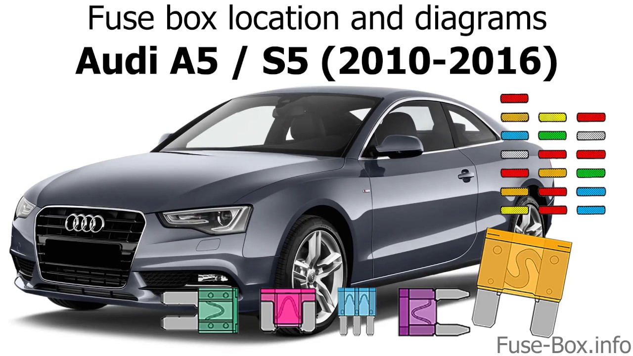 fuse box location and diagrams audi a5 s5 2010 2016  [ 1280 x 720 Pixel ]