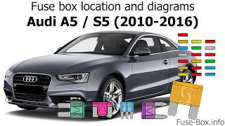Fuse box location and diagrams: Audi A5 / S5 (2010-2016) - YouTube | Audi A5 Starter Wiring Diagram |  | YouTube