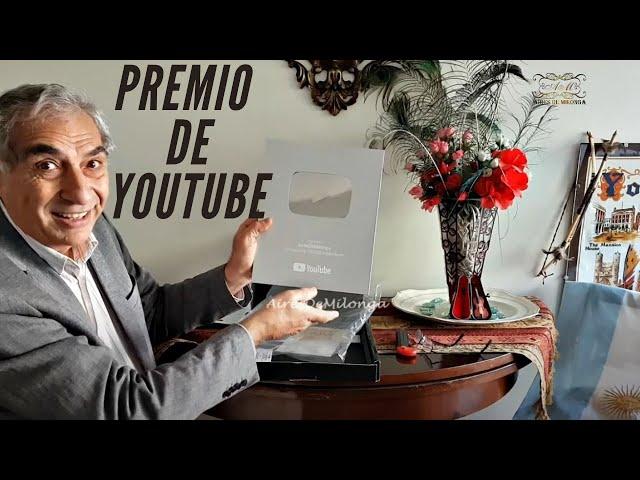 Gracias a ustedes, gran empresa mundial premia la difusión cultural tango #YouTubeCreatorAwards.