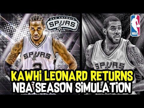 KAWHI LEONARD RETURNS! HOW GREAT WILL THE SAN ANTONIO SPURS BE? NBA SEASON SIMULATION