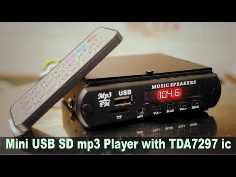 mini usb sd mp3 player with TDA 7297 ic audio board hindi electronics [ELECTRO INDIA] HINDI