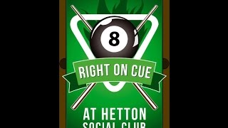HETTON & DISTRICT WEDNESDAY NIGHT POOL LEAGUE; SINGLES FINAL 2017