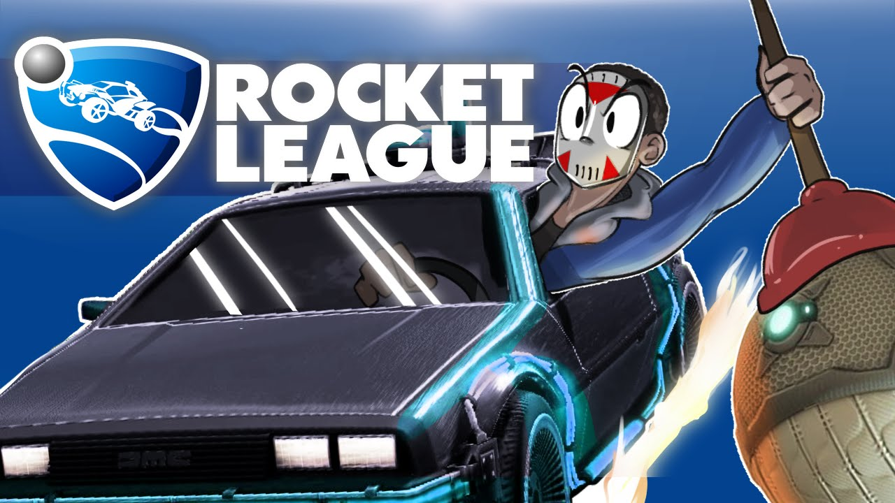 rocket league - rumble       2v2  intense matches with delorean car   best of 3