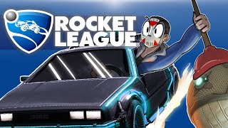 Rocket League - RUMBLE!!!!!! 2v2 (Intense Matches with DeLorean Car!) Best of 3!