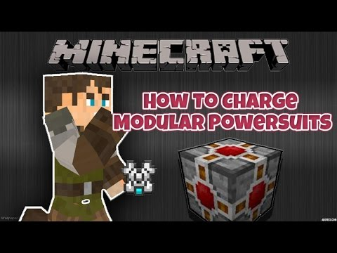 MINECRAFT| HOW TO CHARGE MODULAR SUIT| TEKKIT