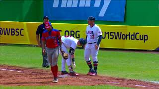Highlights: Dominican Republic v USA - U-15 Baseball World Cup 2018