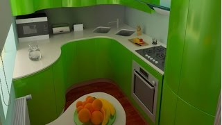видео Мебель для небольшой кухни