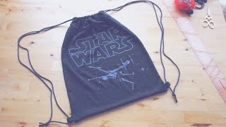 vuclip Refashion DIY Drawstring Backpack / Gym Bag // 簡単リメイク ✂️ ナップサックの作り方ㅣmadebyaya