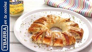 Corona de York y queso con mayonesa Ybarra