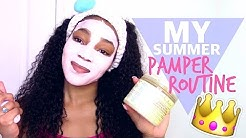 My Summer Pamper Routine! Hair Care, Skin Care, & More ♡|StinnaMarie❥
