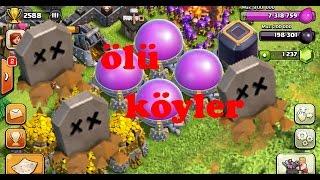Ölü köy var mı ? - kb 10 ölü köy ganimet durumu - Clash Of Clans Türkçe