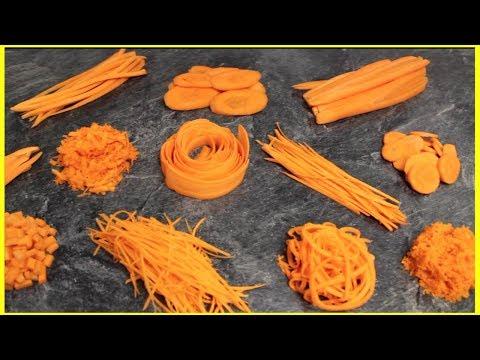 12 Amazing Carrot Cutting Skills Using Kitchen Gadgets