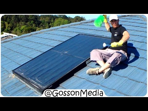 Solar Hot Water System Service Part 2 : Cleaning INSIDE the Roof Mounted Heat Exchanger