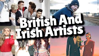 Top 50 Most Viewed Songs By British And Irish Artists - JULY 2021!