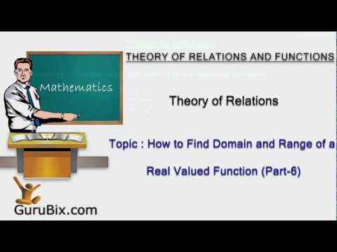 How to find domain and range of a real valued function (Part-6) | Theory of Functions | Math Lessons