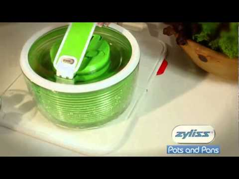 The ZYLISS Smart Touch Salad Spinner