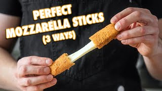 Cheesy Homemade Mozzarella Sticks (3 Ways)   3 Million Subscriber Special