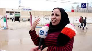 احتجاجات على نقل قاعات الثانوية من قرى حوران إلى الرمثا (8-4-2019)