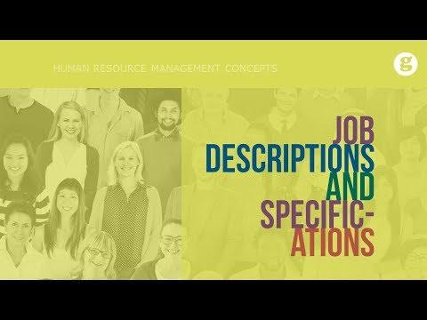 Job Descriptions and Specifications