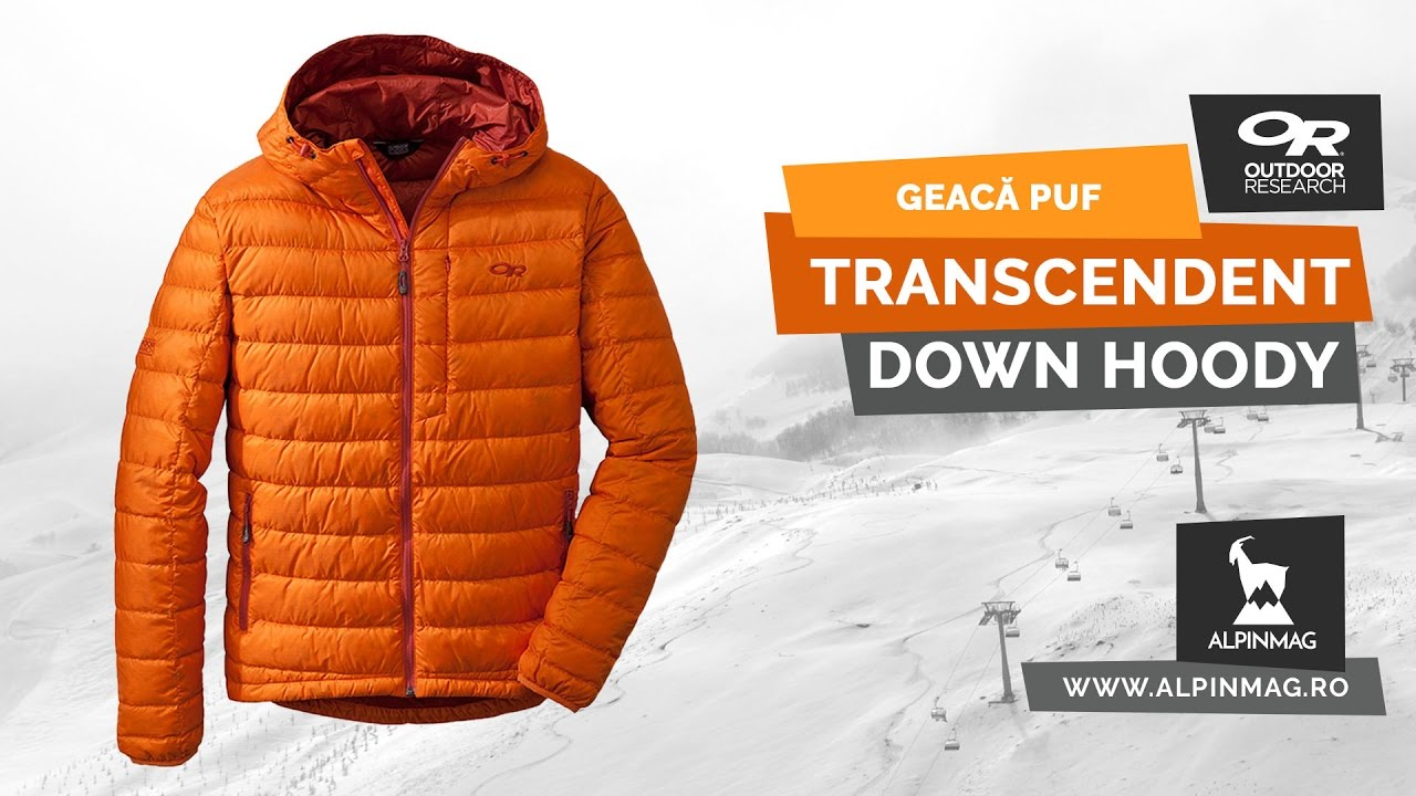 05939b8e8b8 Geaca Transcendent Down Hoodie - Outdoor Research - YouTube