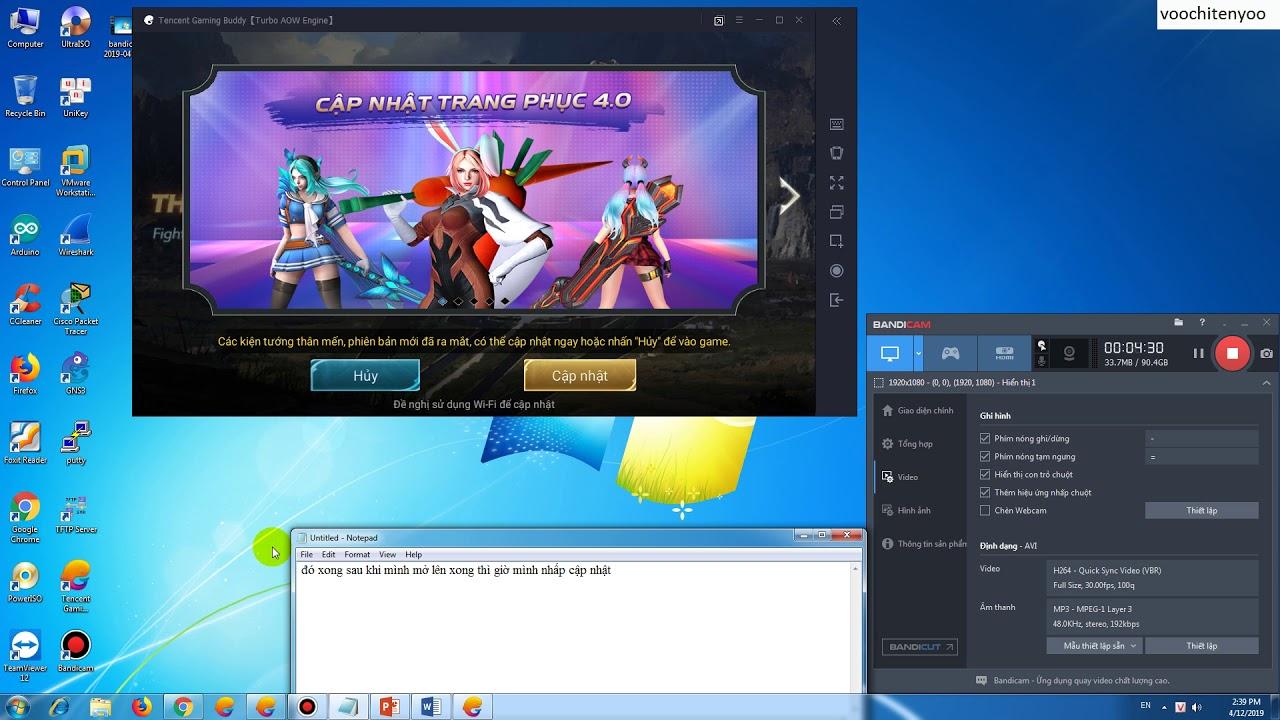 voochitenyoo hướng dẫn cập nhật liên quân mobile trên giả lập tencent gaming buddy part 2