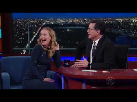 Thumbnail: Stephen Colbert's wife cameo at her husband's Late Show!