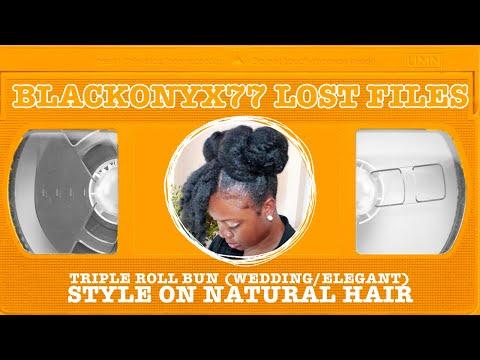triple roll bun- natural hairstyle