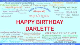 Darlette   Languages Idiomas - Happy Birthday