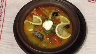 Солянка рыбная в горшочке | Рецепт диетического блюда | Солянка з риби  в горщику.