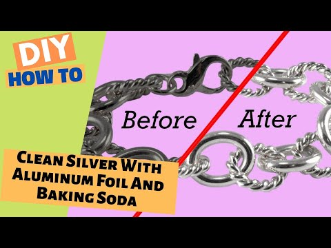How To Clean Silver With Aluminum Foil And Baking Soda - without words!
