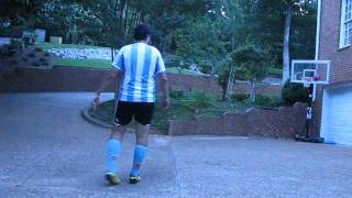 Luckiest Shot Ever??? Soccer Ball Kicked into Basketball Hoop from 25 Yards Out