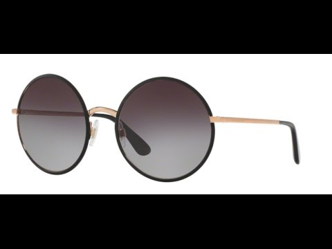 Dolce Gabbana 2155 Sunglasses 12968G Black Gold - YouTube 31867362c4