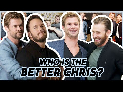 Chris Evans Hemsworth & Pratt Reveal WHO IS THE BETTER CHRIS  Funny Moments Avengers: Endgame