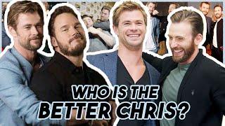 Download Chris Evans, Hemsworth & Pratt Reveal WHO IS THE BETTER CHRIS   Funny Moments Avengers: Endgame Mp3 and Videos