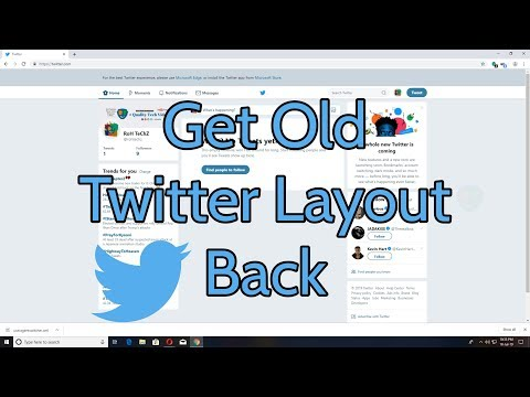 How To Get The Old Twitter Layout Back (August 2019) - YouTube