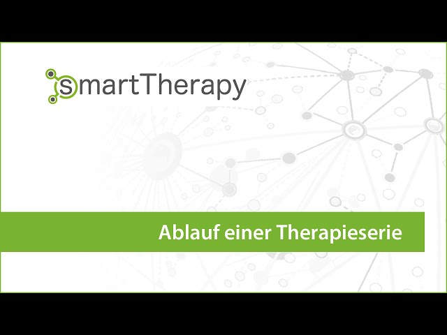 smartTherapy: Ablauf Therapieserie
