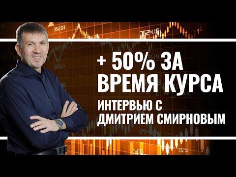 +50% прибыли за время курса. Интервью с Дмитрием Смирновым.