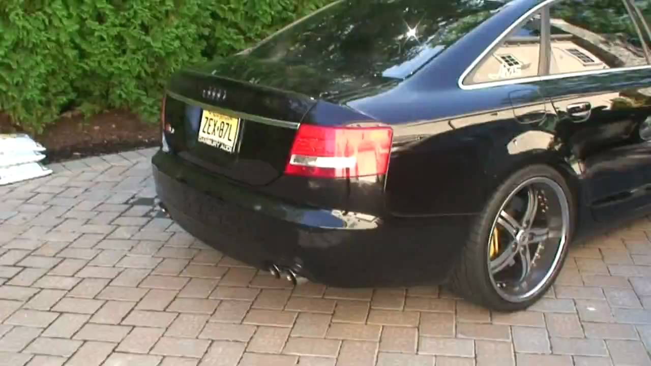 hd audi s6 v10 insane exhaust and custom wheels ams autowerks youtube. Black Bedroom Furniture Sets. Home Design Ideas
