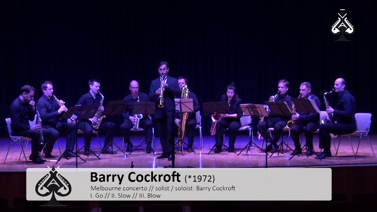 Adolphesax.com - AS Festival - Melbourne Concerto by B. COCKCROFT Soloist-Barry COCKCROFT