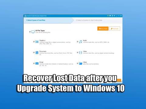 Recover Lost Data After You Upgrade System To Windows 10