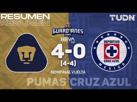 Resumen y goles | Pumas 4(4)-(4)0 Cruz Azul | Semifinal Vuelta Guard1anes 2020 Liga BBVA Mx | TUDN