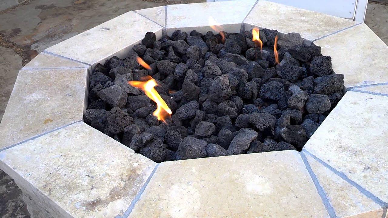 Fire Pit Lava Rock Adjustmernt - YouTube