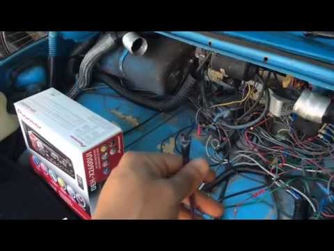 Stereo installation, wiring connection on a 1970 VW Beetle. - YouTubeYouTube