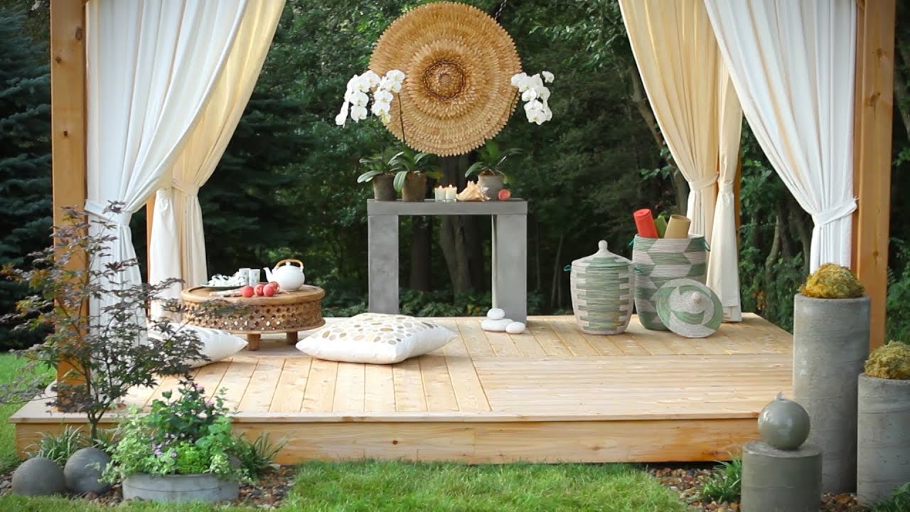 backyard deck designs youtube