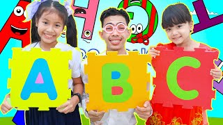 Nora Kevin and Uncle Play Along ABC Song