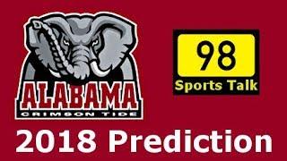 Alabama Football Schedule Prediction 2018